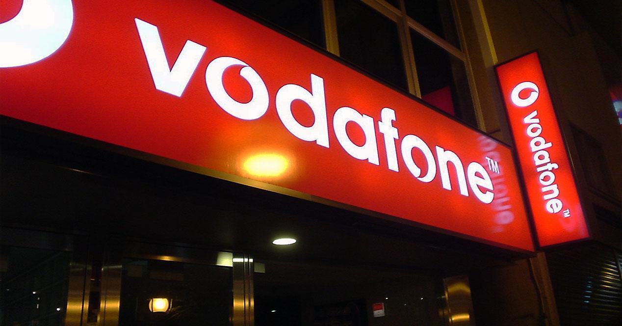 Luminoso de una tienda Vodafone