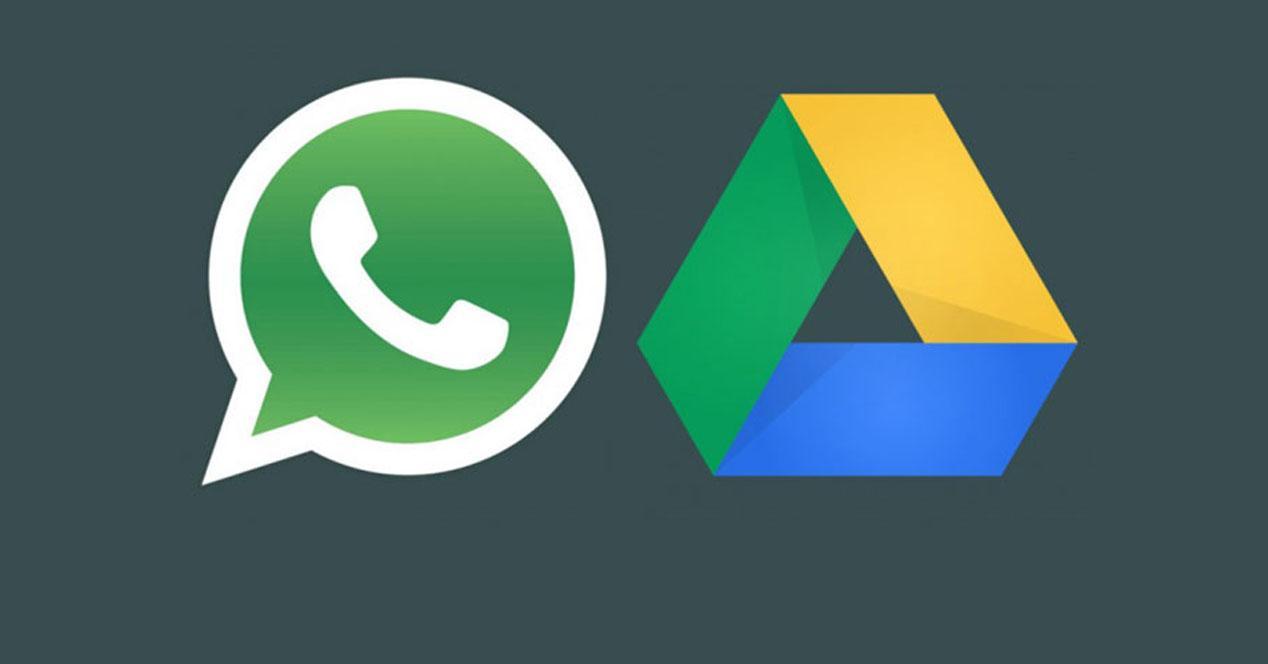 Logos de WhatsApp y Google Drive