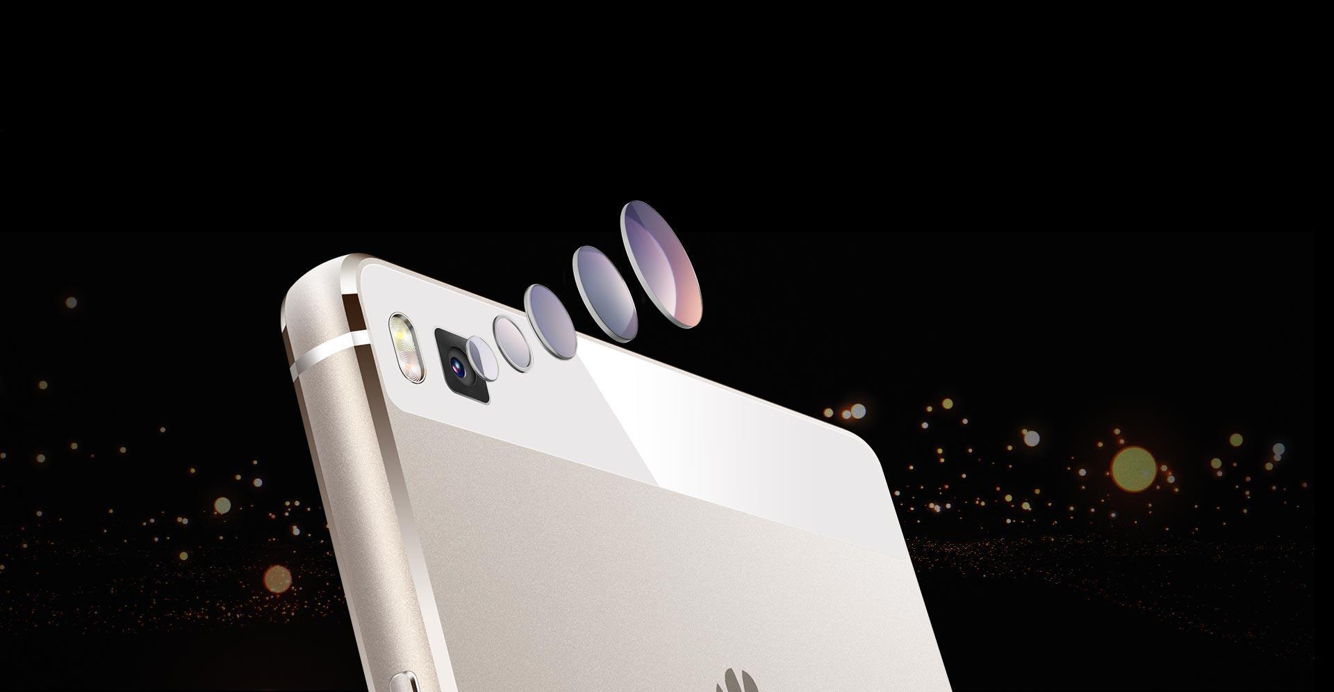 Detalle de la cámara del Huawei P8