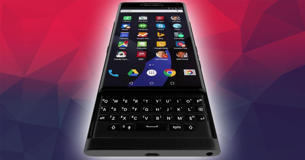 Blackberry Venice con teclado abierto