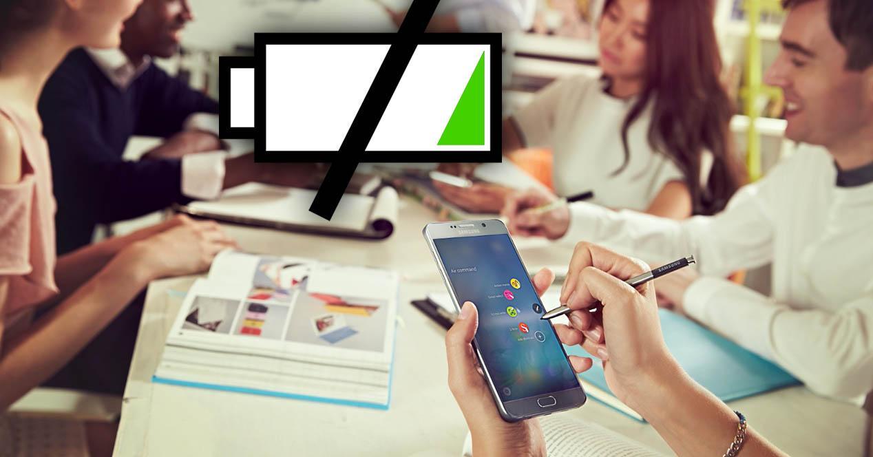 Samsung Galaxy Note 5 batería portada