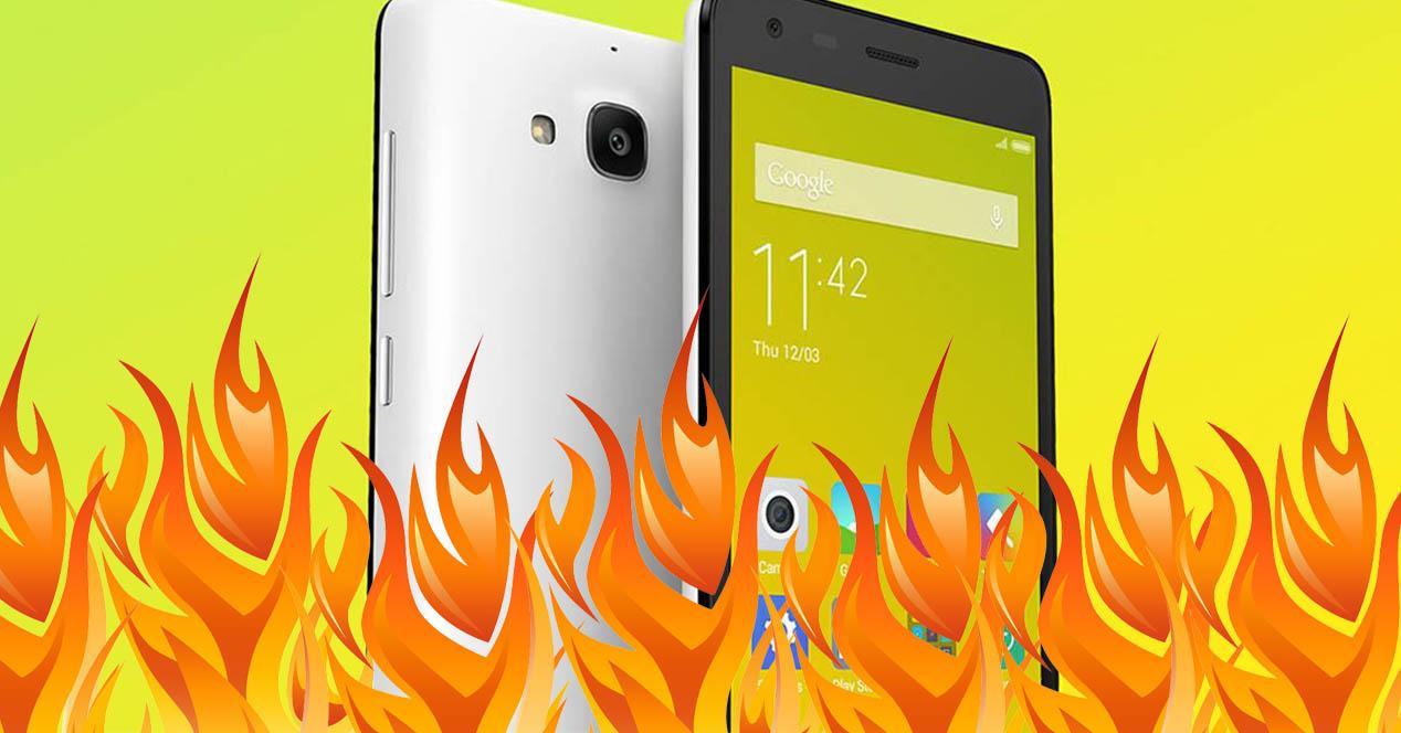 Xiaomi Redmi 2A ardiendo
