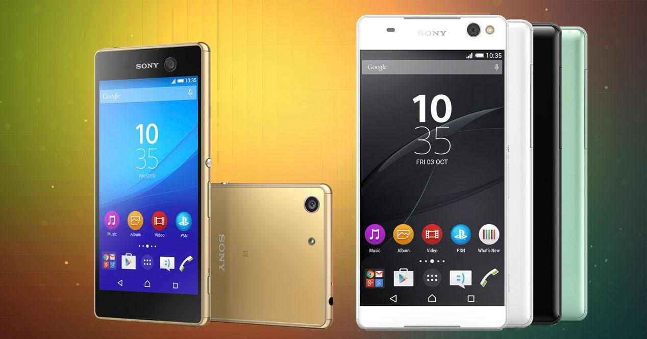 Sony Xperia C5 ultra y Sony Xperia M5