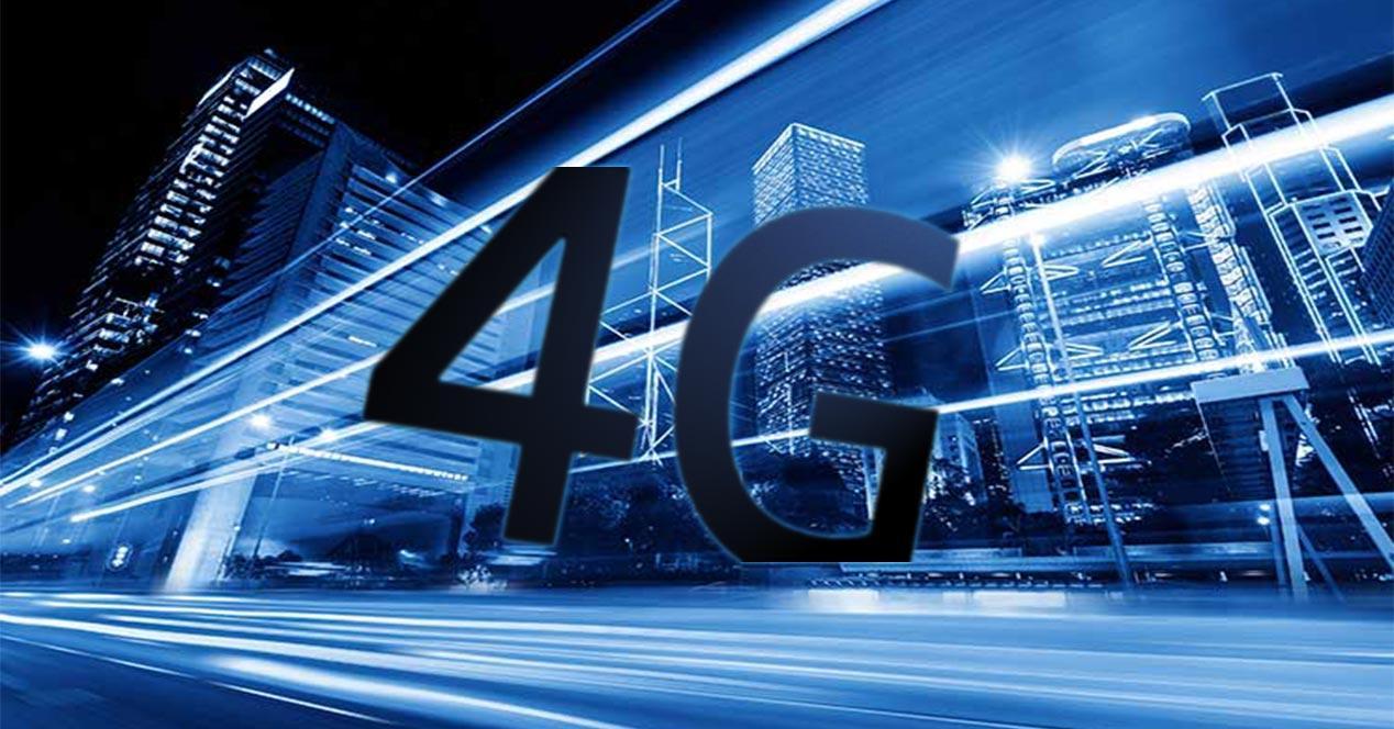 Red 4G en una ciudad