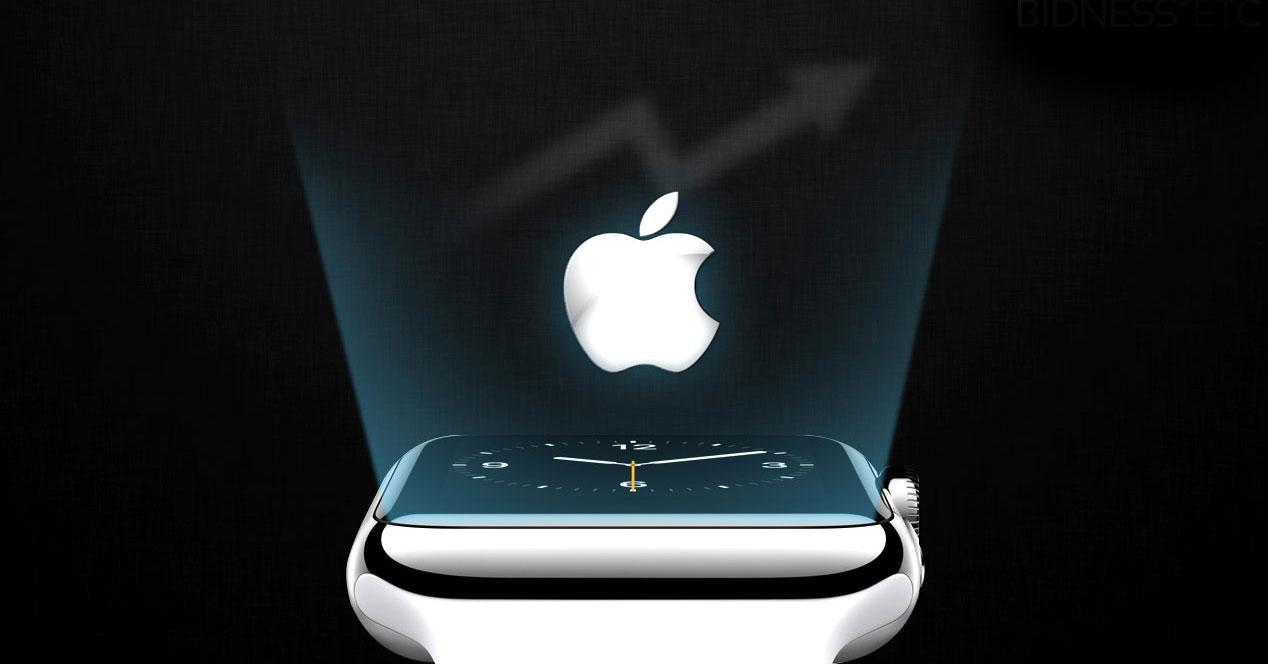 Apple Watch y logotipo de la firma
