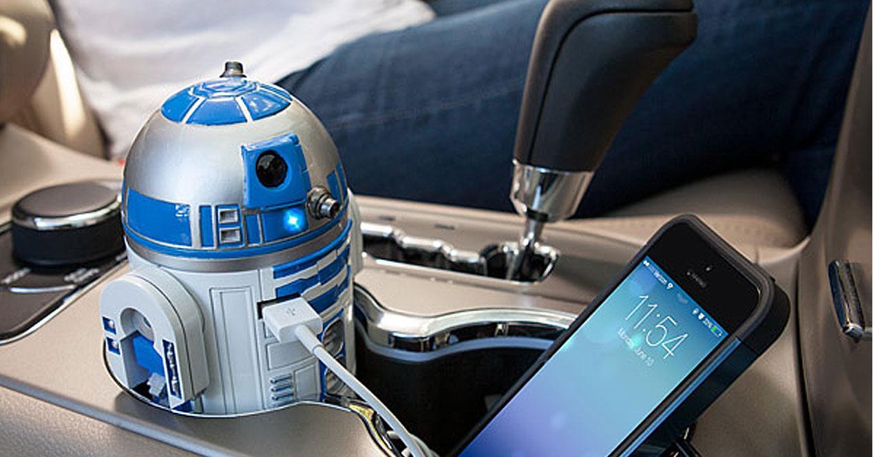 Cargador con forma de R2-D2