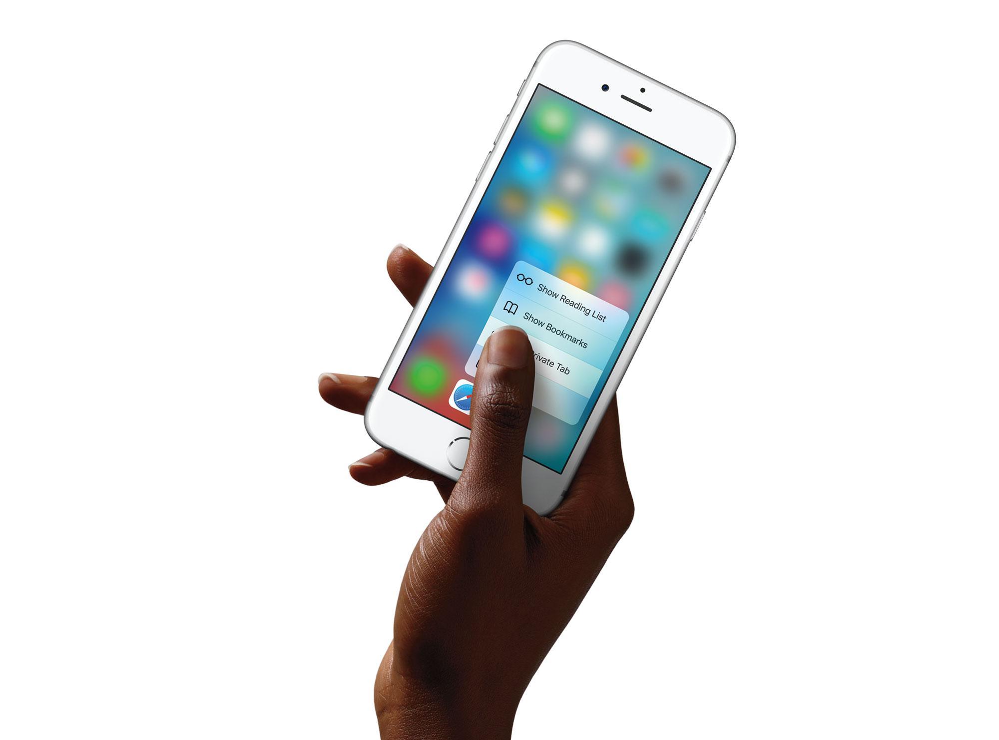 iPhone 6s en color blanco