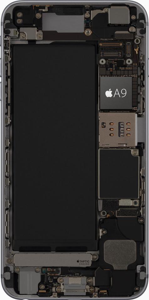 iPhone 6s con procesador A9