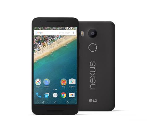 Nexus 5x frontal y trasera