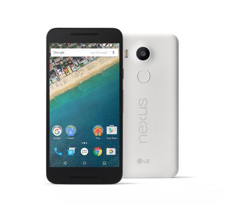 Nexus 5X en color negro y blanco