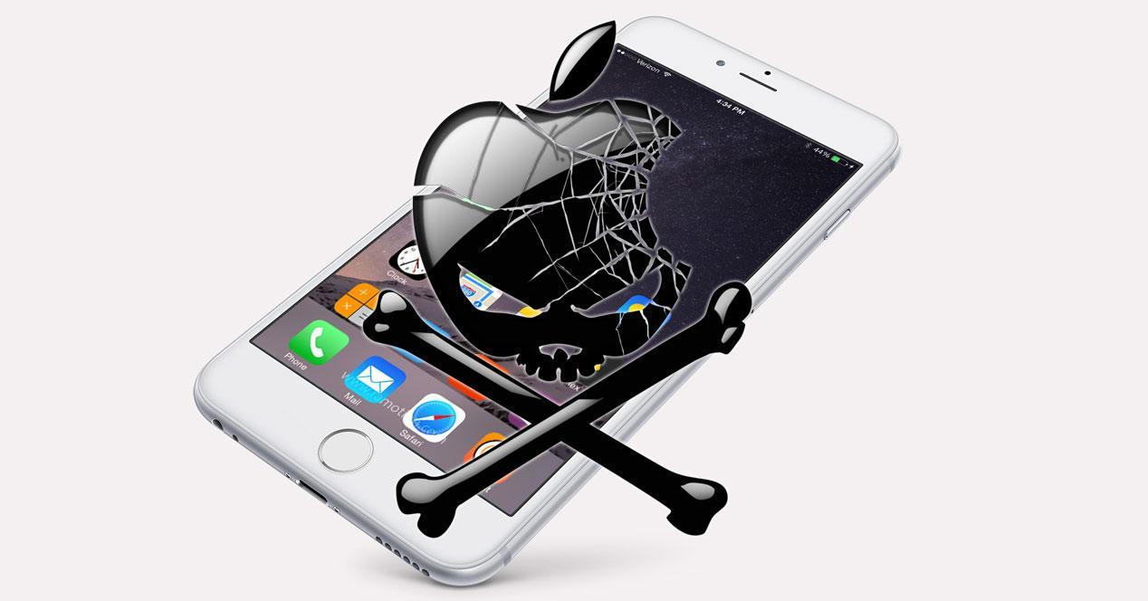 iPhone 6 con calavera Apple
