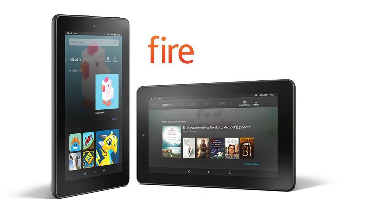 Kindle Fire con logo