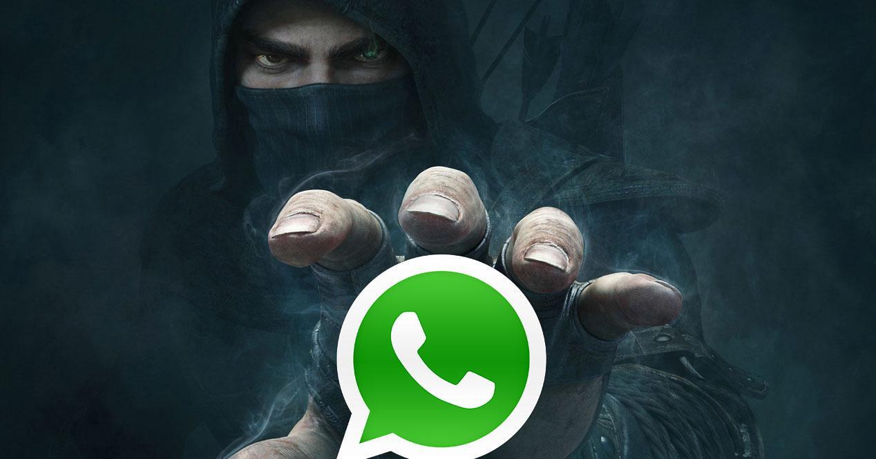 Ladron con logo de whatsapp
