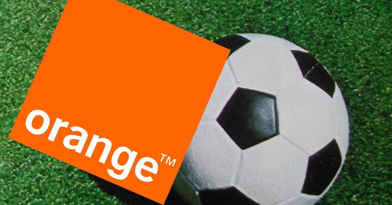 orange balon de futbol