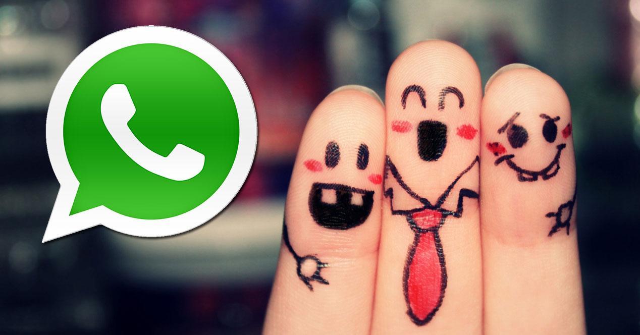 WhatsApp dedos pintados