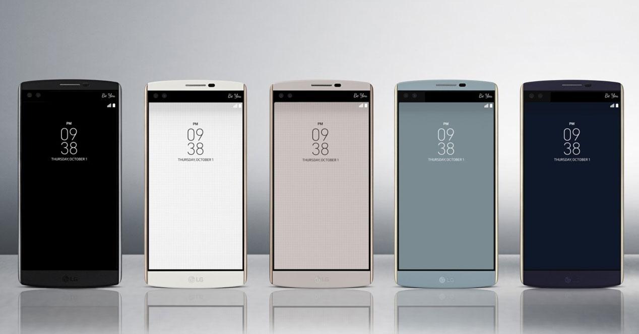 LG V10 en diferentes colores