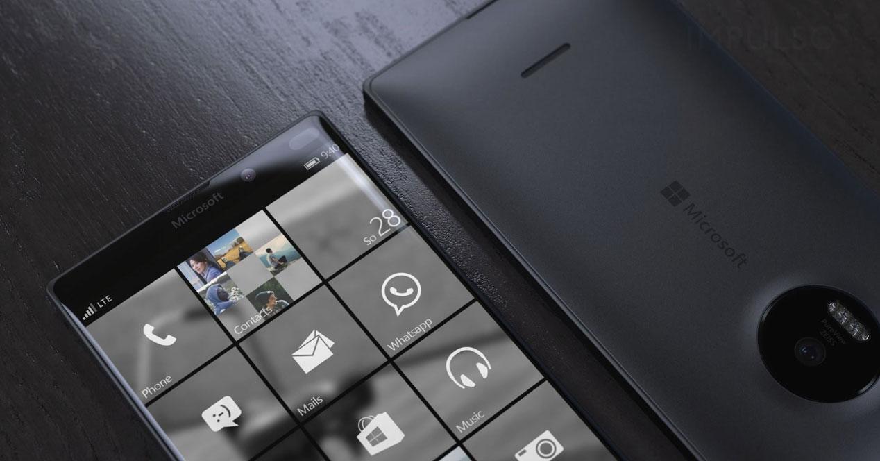 Render del Lumia 950 XL en negro