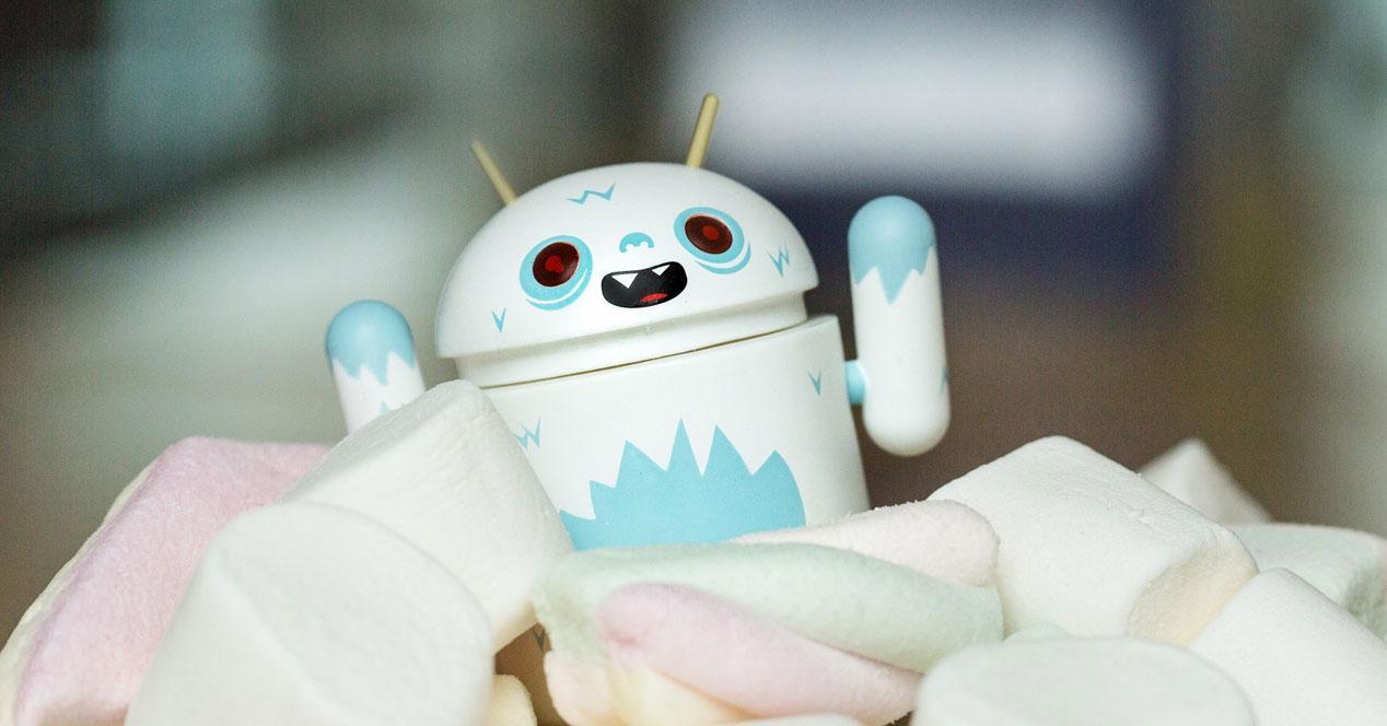 Androide yeti con marshmallows