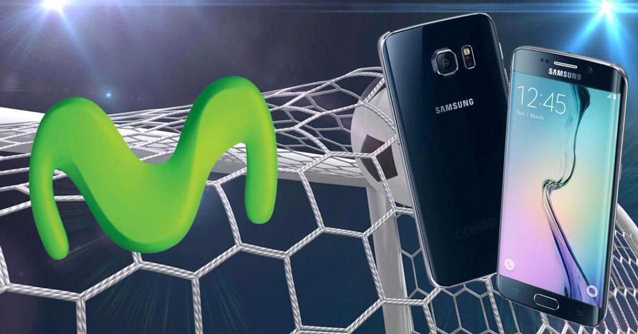Galaxy S6 edge plus y logo movistar