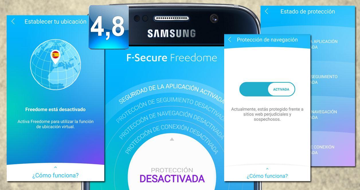 Montaje aplicación F-Secure Freedome