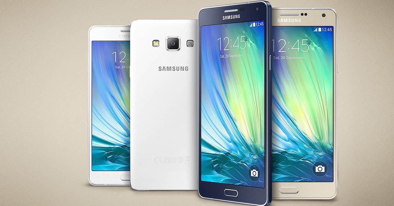 Galaxy A7 gama portada