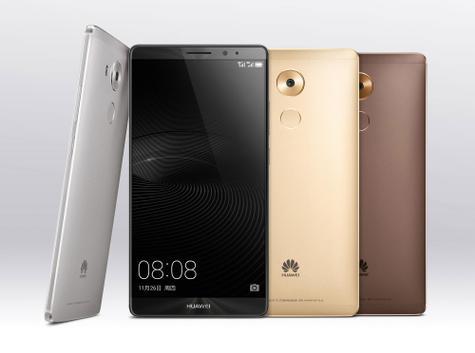 Huawei Mate 8 en plata, negro, oro y marrón