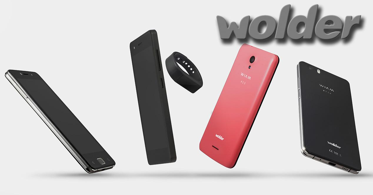 Familia de smartphones Wolder Wiam