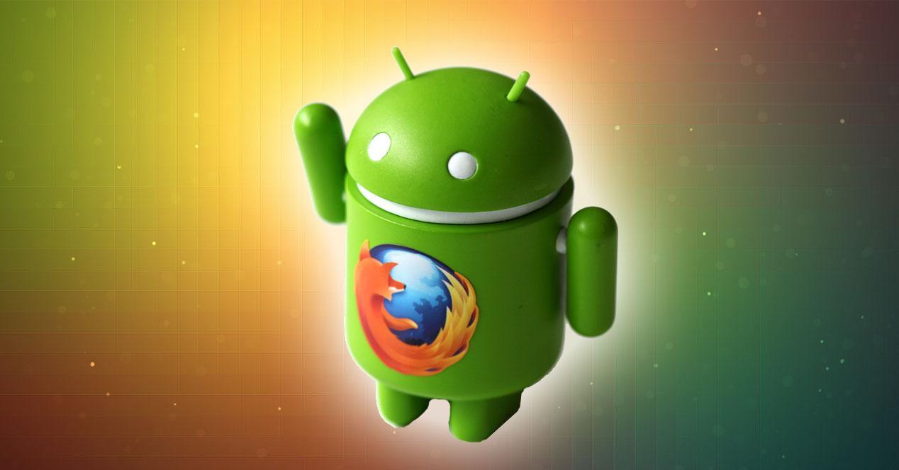 Android con logo de Firefox