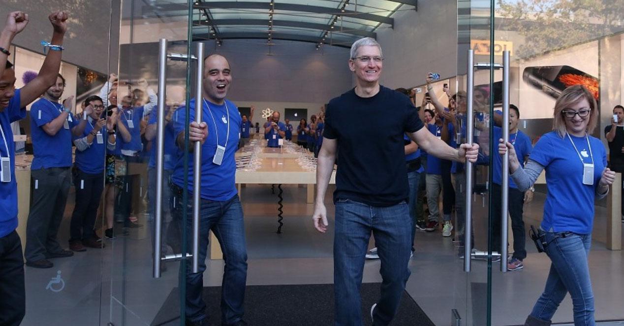Apple Store con Tim Cook
