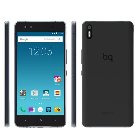 bq X5 Cyanogen negro frontal, trasera y laterales