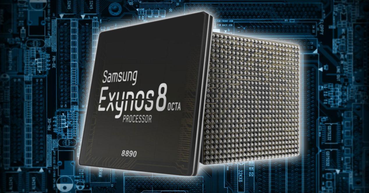 Exynos 8890 sobre fondo de circuitos
