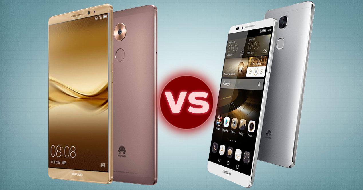 Huawei Mate 8 vs Huawei Ascend Mate 7