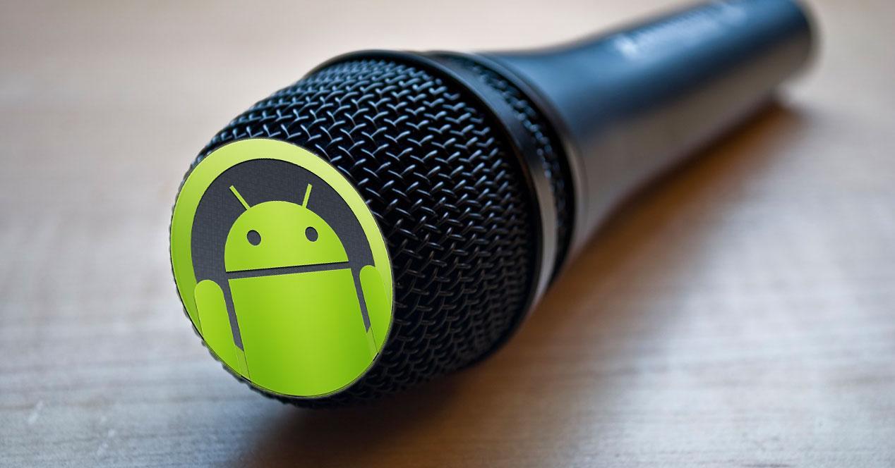 microfono con logo android