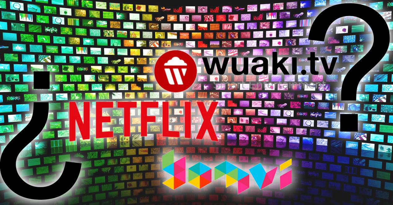 logos de yomvi netflix y wuaki