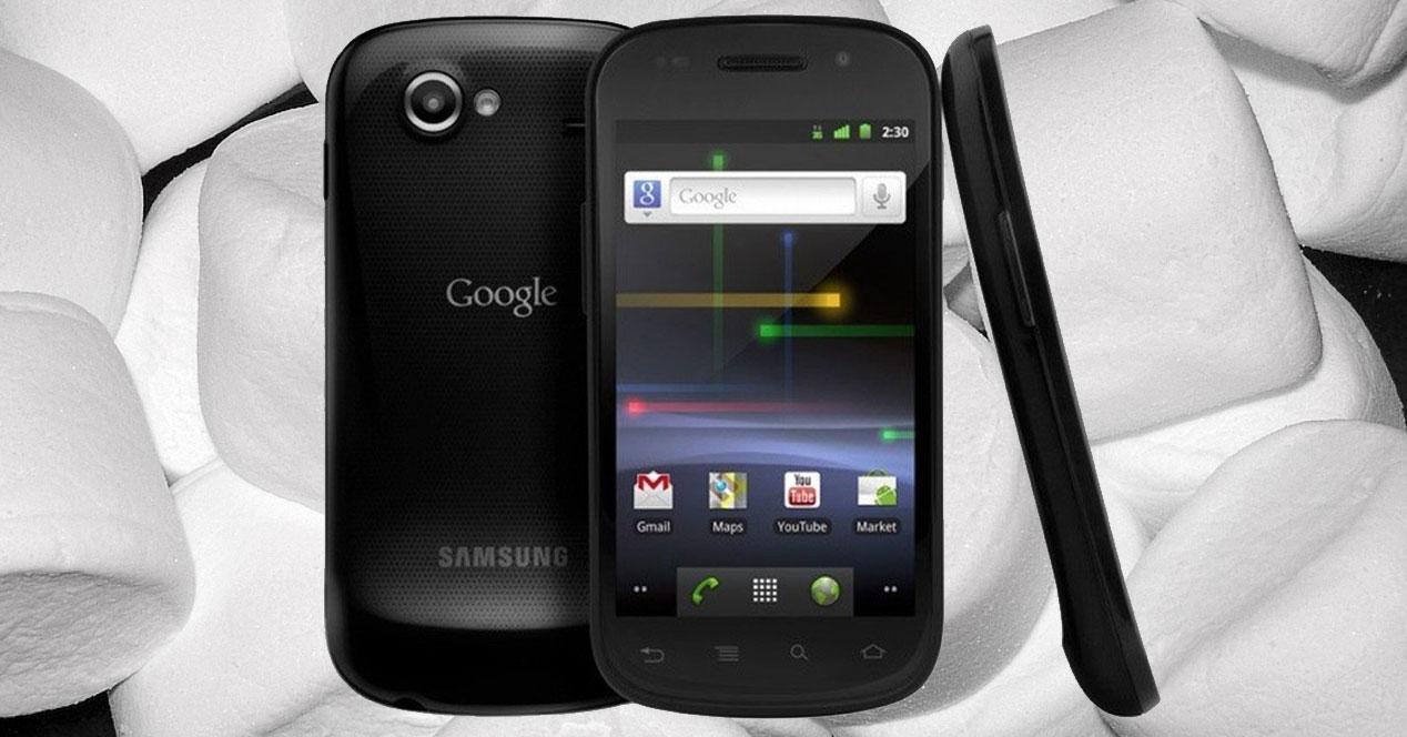 Nexus S con fondo de Marshmallow