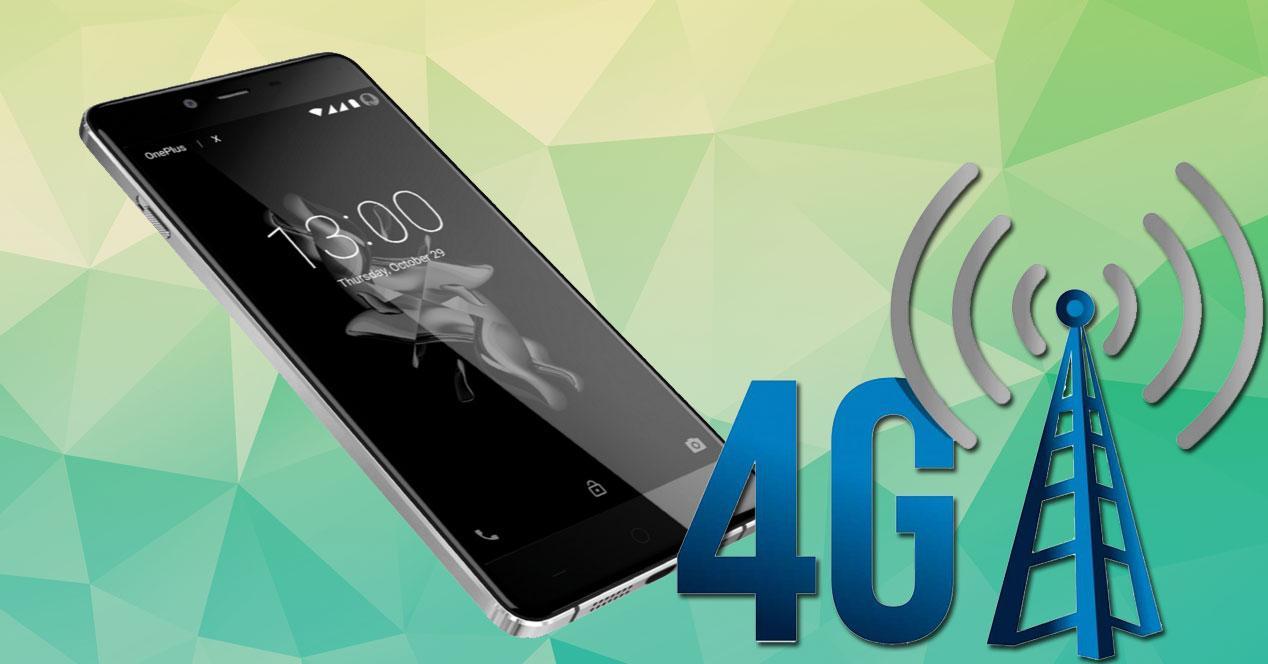 OnePlus X con logo 4G