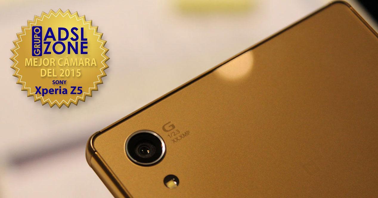 Sony Xperia Z5 camara dorado