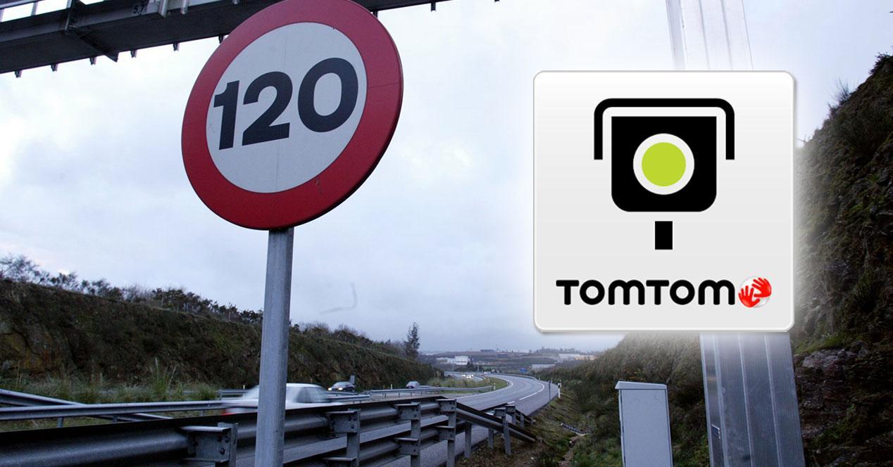 TomTom logo con señal de 120