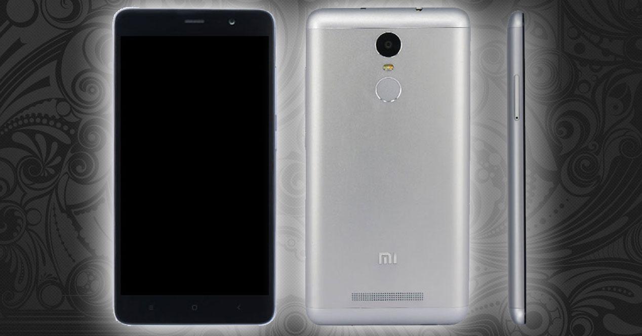 Xiaomi Redmi Note 2 Pro vistas frontales, trasera y lateral