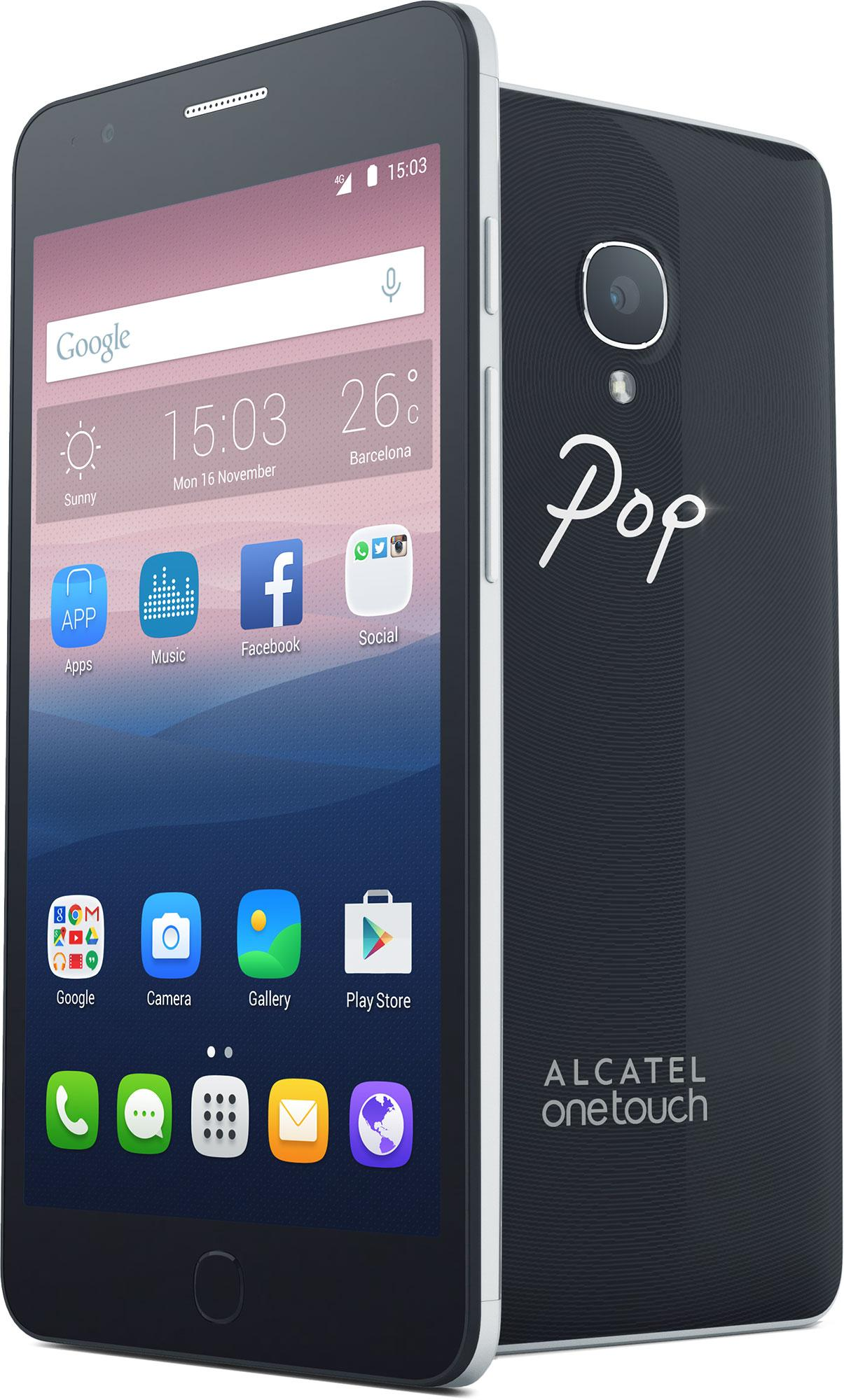 Alcatel Onetouch Pop Up negro