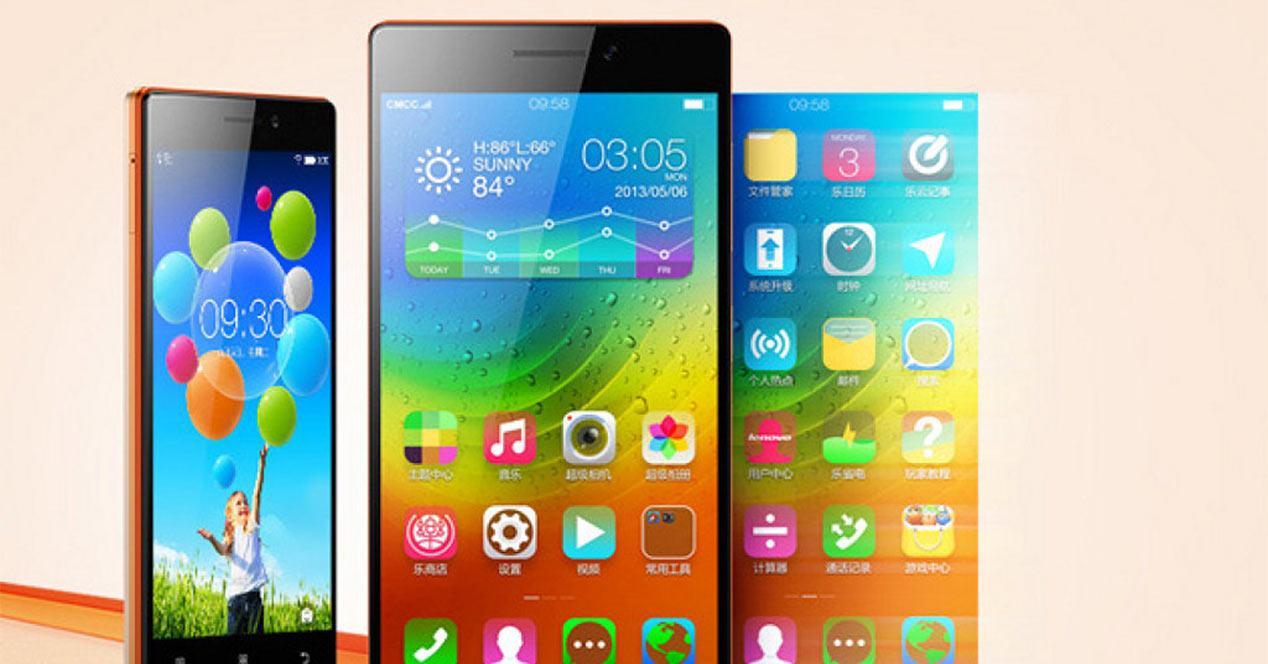 Interfaz de smartphone Lenovo Vibe