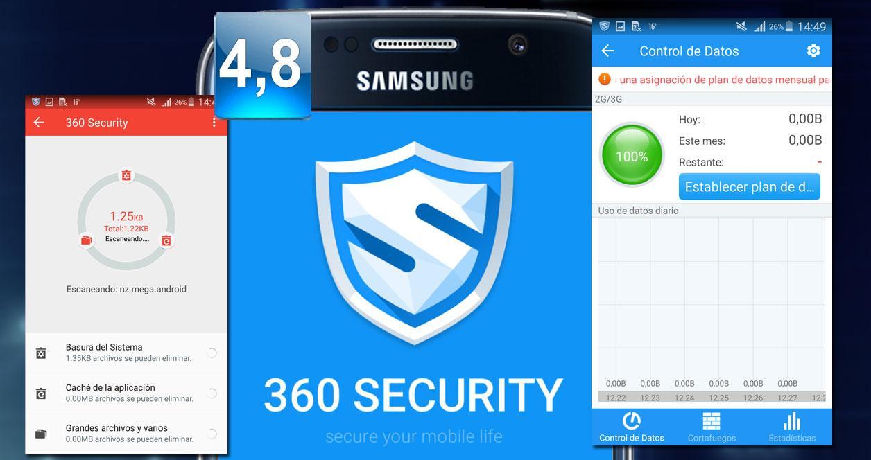 Montaje aplicación 360 Security