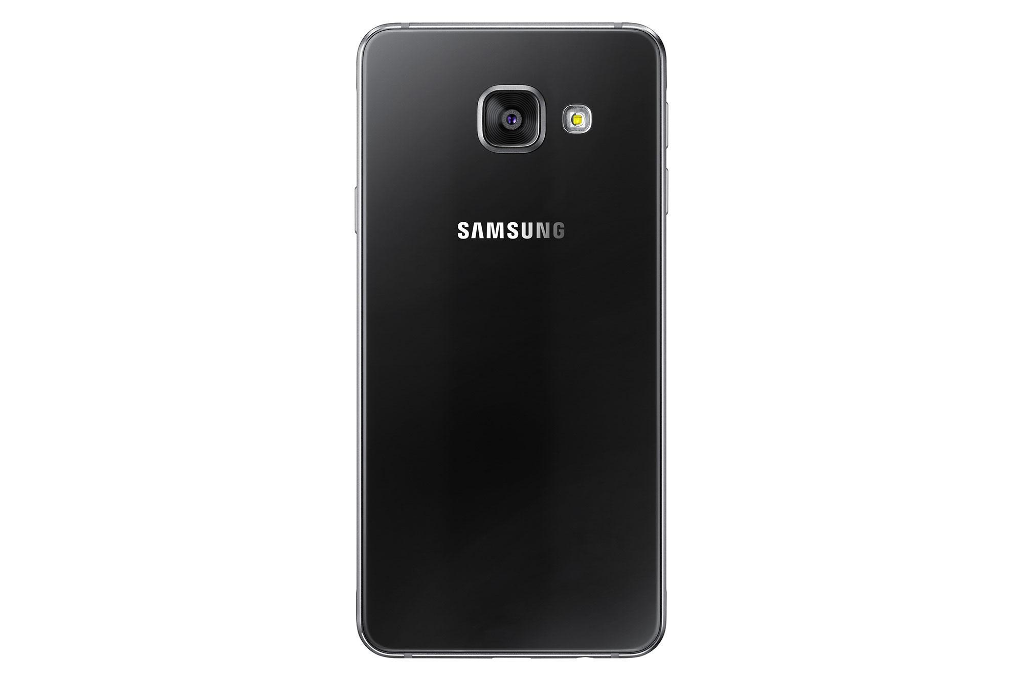 Samsung Galaxy A3 2016 negro trasera y cámara