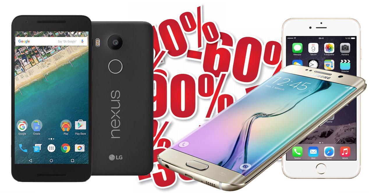 Descuentos iPhone 6s, Nexus 5x, Samsung Galaxy S6