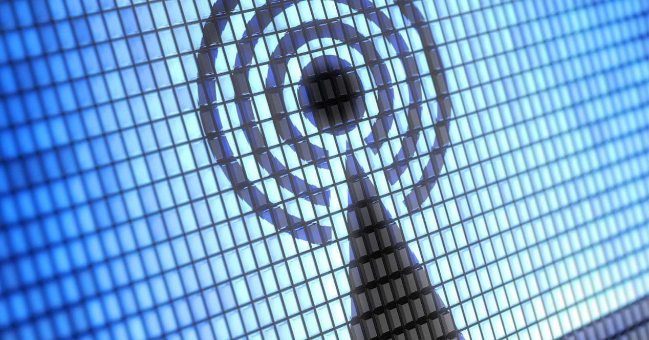 icono wifi en pantalla