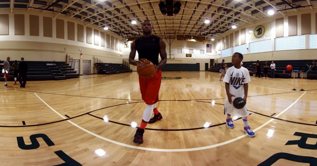 LeBron James entrenando para las Gear VR