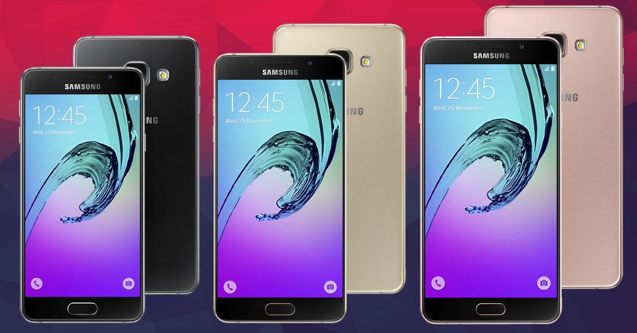 Nuevos Galaxy A3, A5 y A7 2016