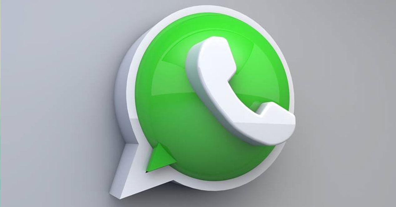 WhatsApp logo en 3D