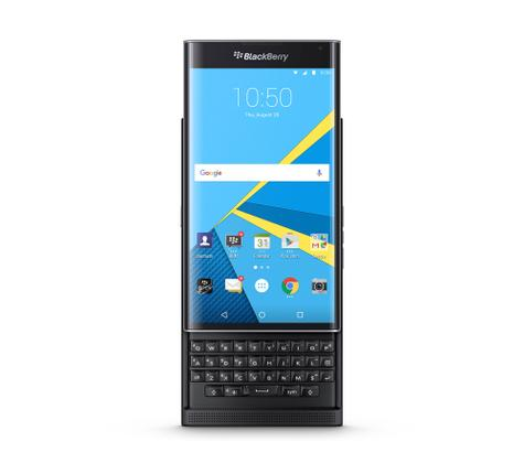 BlackBerry Priv con teclado abierto