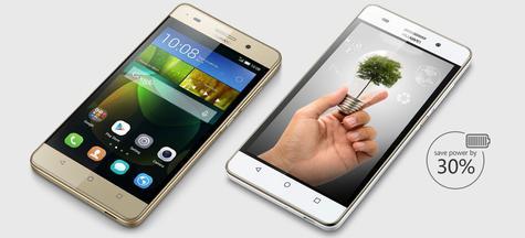 Huawei G Play Mini oro y blanco